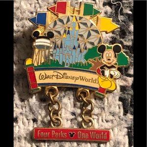 Disney trading pin. Four parks one world w/Mickey